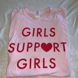 girls support girls graphic tee